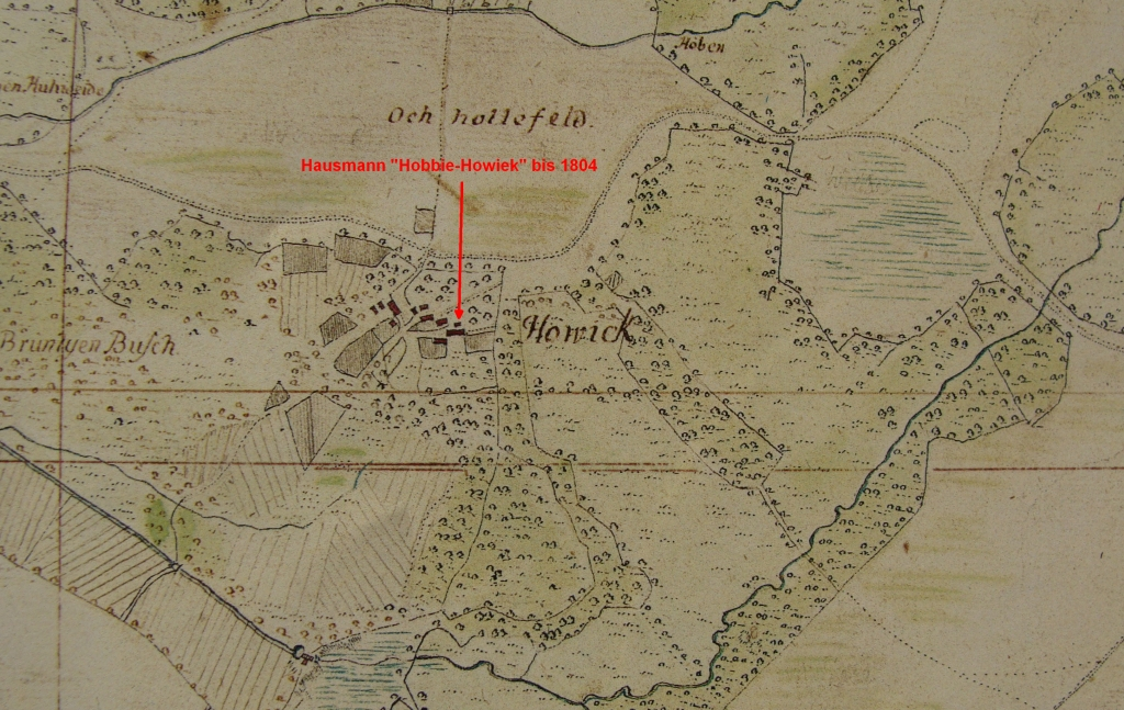 Hobbie-Farm in Howiek in Vogteikarte from 1793
