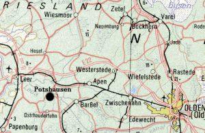 Generalkarte 1:1.000.000 mit Potshausen