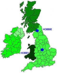 Origin of the British families HOBBIE & HOBBY