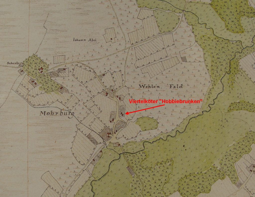 Farm in Moorburg in Vogteikarte from 1793