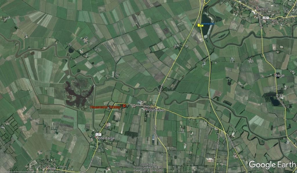 Hobbie-farm in Potshausen in GoogleEarth