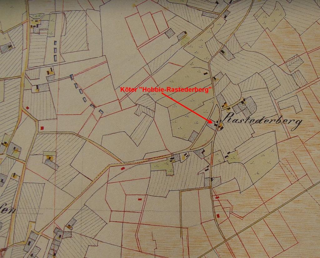 Hobbie-Farm in Rastederberg in Vogteikarte from 1797