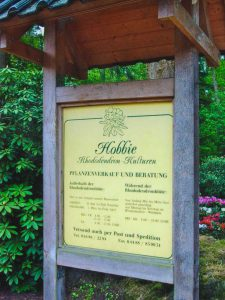 Information about Rhododendron-Park Hobbie