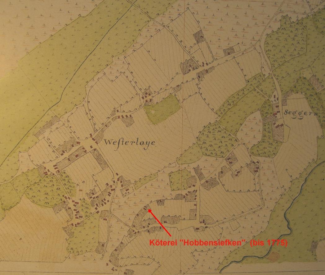 Hobbensiefken-farm in Westerloy in Vogteikarte from 1793